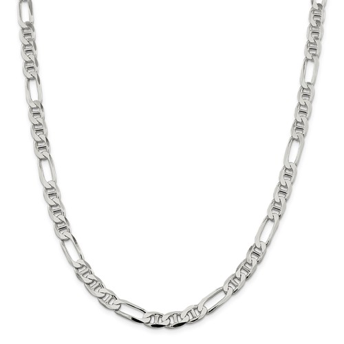 Sterling Silver  4.5mm Figaro Chain  22