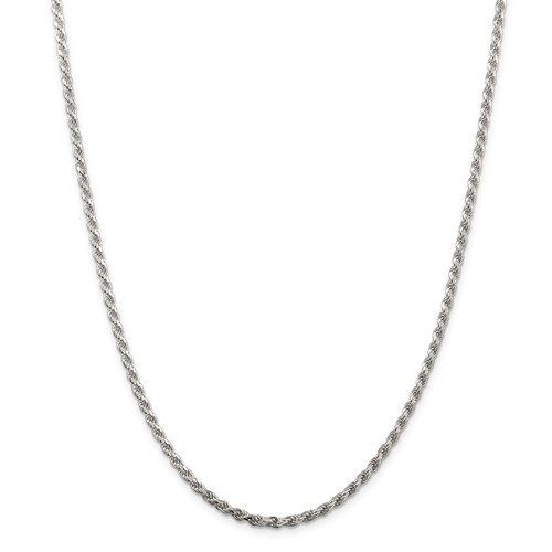 Sterling Silver Diamond Cut Rope 2.75 Mm Chain 20 Inch