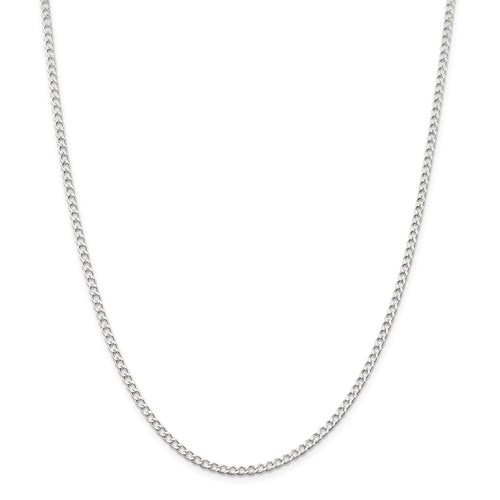 Sterling Silver Solid 2.80mm Curb Chain 20