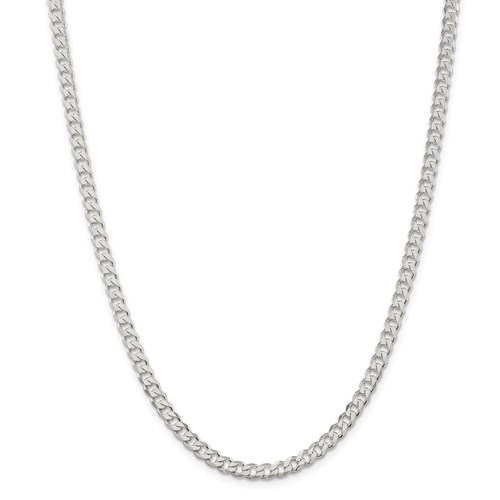 Sterling Silver 4.5 mm Solid Curb Chain  30 inch