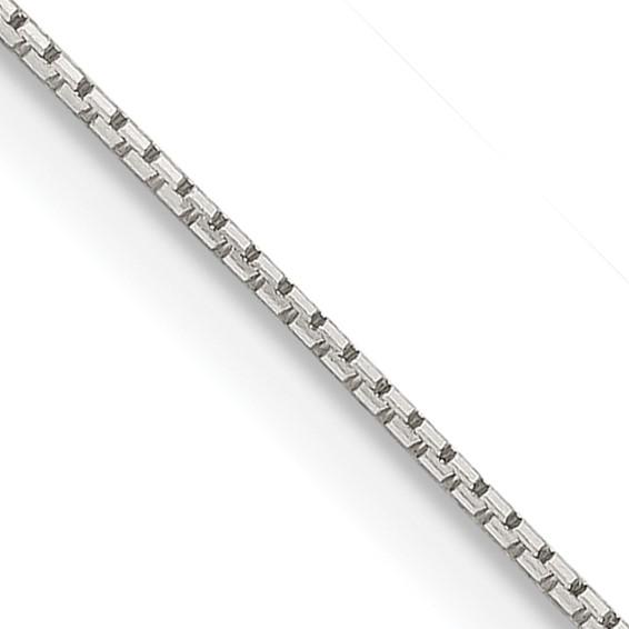 Sterling Silver 0.6mm 8 sided diamond-cut mirror box chain Chain Length: 16