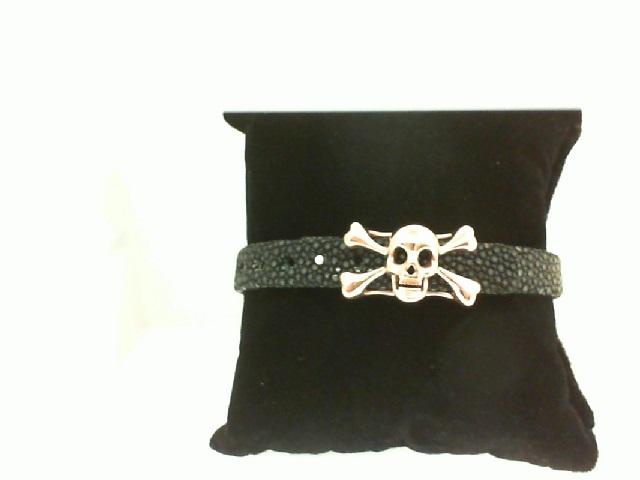 Sting HD: Black Sting Sterling Silver Rose Gold Plating Bracelet Name: Luxe/Skull Length: Medium Diameter: 8.5 mm