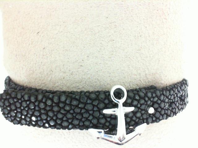 Sting HD: Sterling Silver Black Platinum Plate Bracelet Name: Luxe/Anchor Length: Medium Diameter: 8 mm