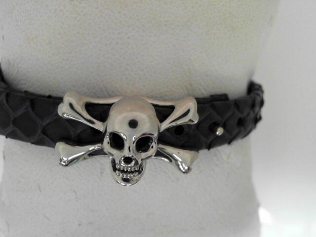 Sting HD: Pure Sterling Silver High Polished Bracelet Python Name: Luxe/Skull Length: Medium Diameter: 8.5 mm Colbalt Blue Sting