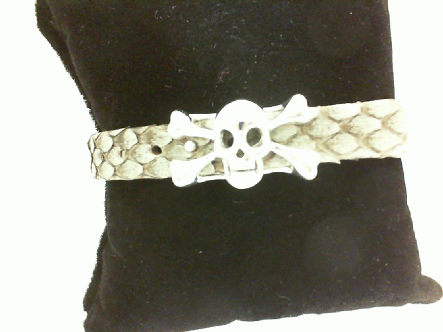 Sting HD:Pure Sterling Silver High Polished Bracelet Name: Luxe/Skull Length: Medium Diameter: 8.5 mm Grey Python