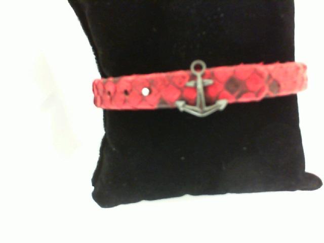 Sting HD: Sterling Silver Black Platinum Plating Bracelet Name: Luxe/Anchor Length: Medium Diameter: 8.5 Mm Red Python