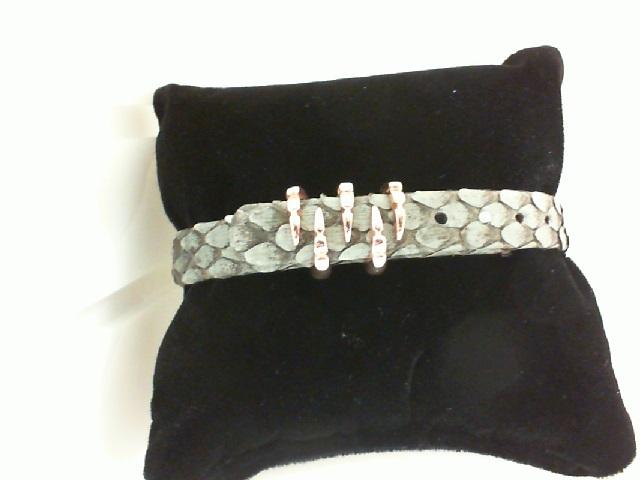 Sting HD: Rose Sterling Silver/Rose Gold Plating Bracelet Name: Grey Python/ Claw Length: Medium Diameter: 9mm