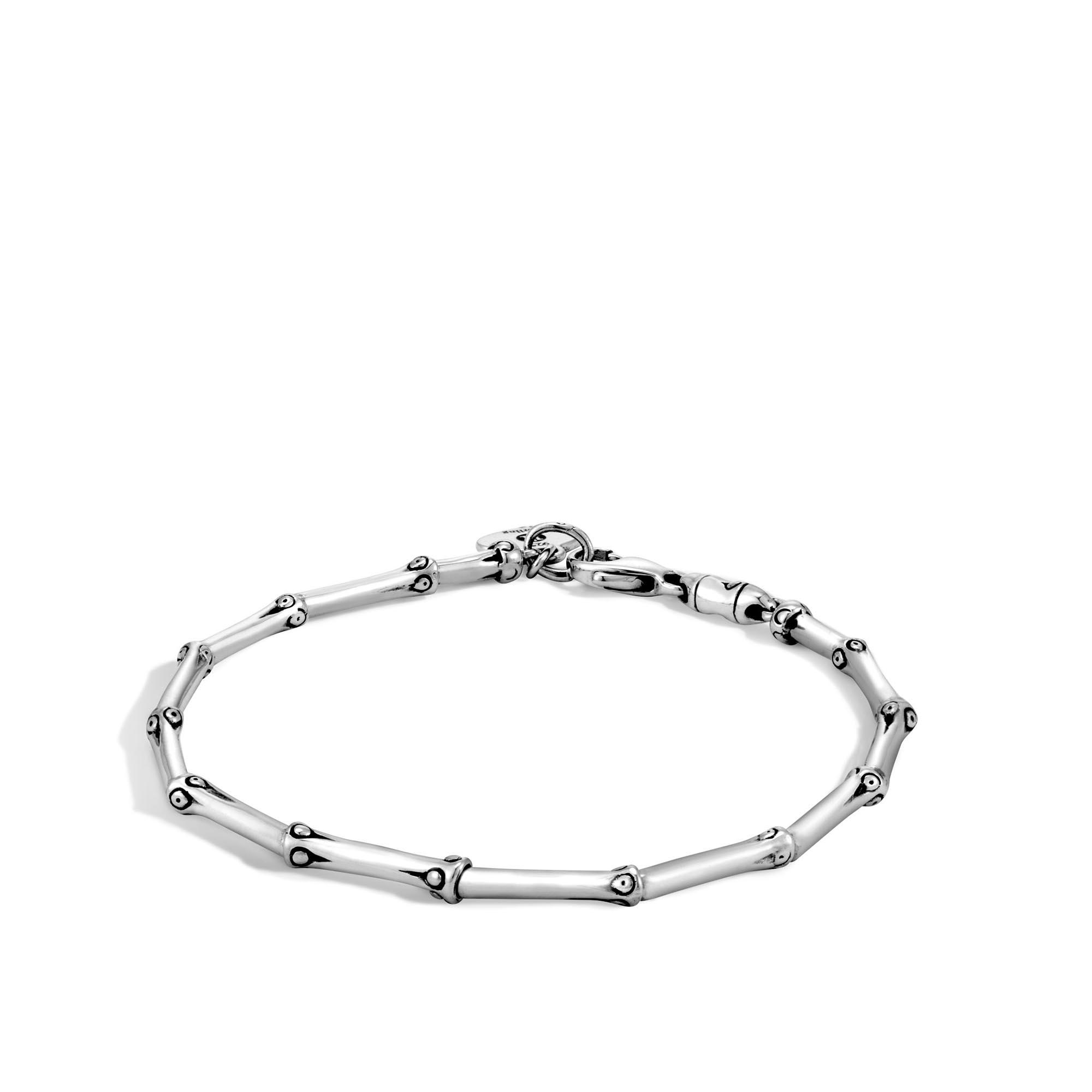 John Hardy: Sterling Silver Bamboo 2.5mm Link Bracelet Length: Med