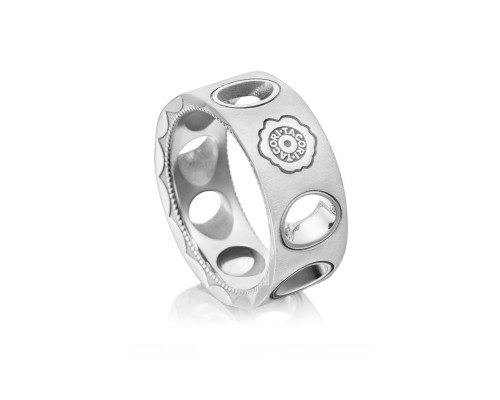 Tacori: Sterling Silver Brushed & Polished Ring Size 11 Diameter: 10MM Name: Monterey Roadster Vented Serial #: A20241599