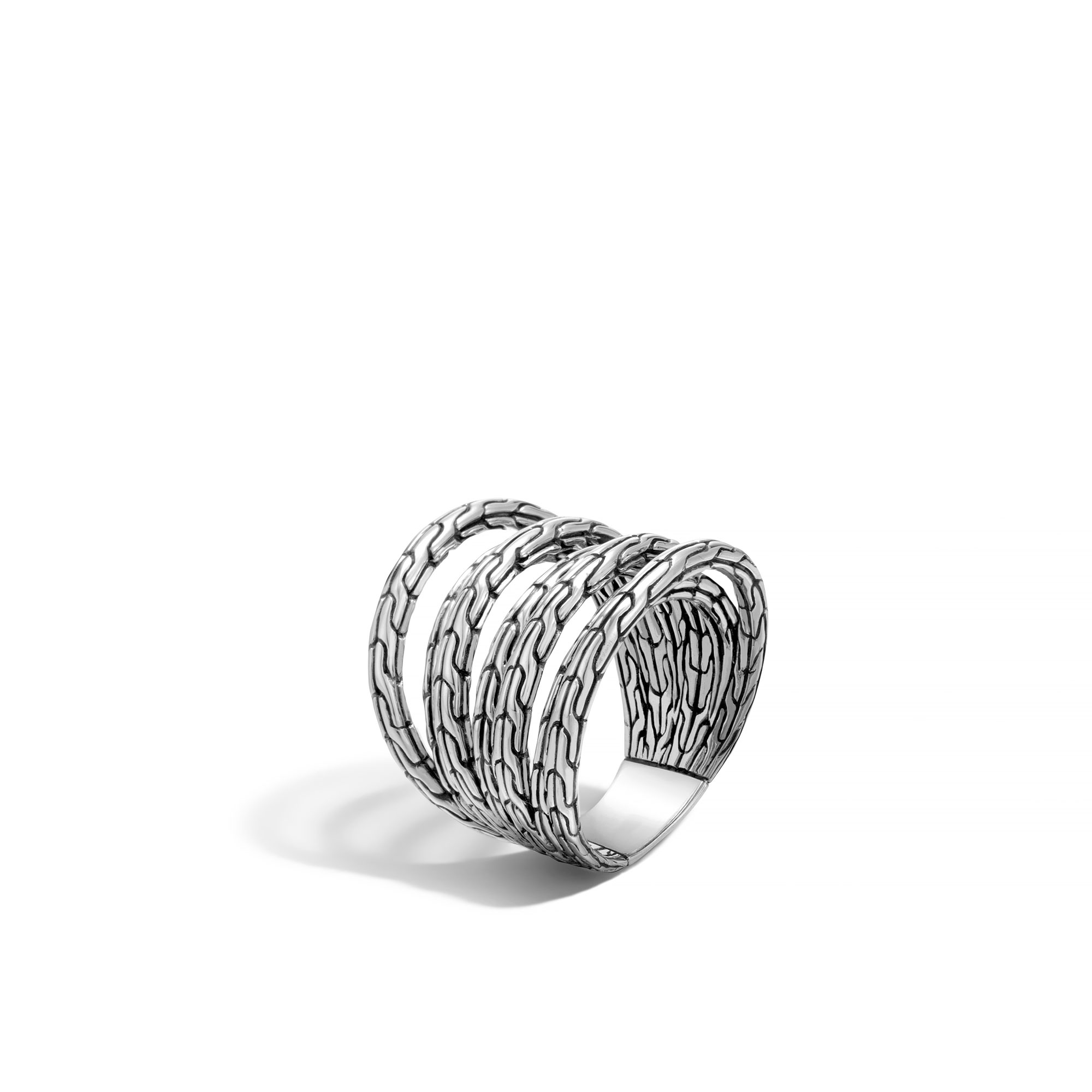 John Hardy: Sterling Silver  Classic Chain Ring Size 7