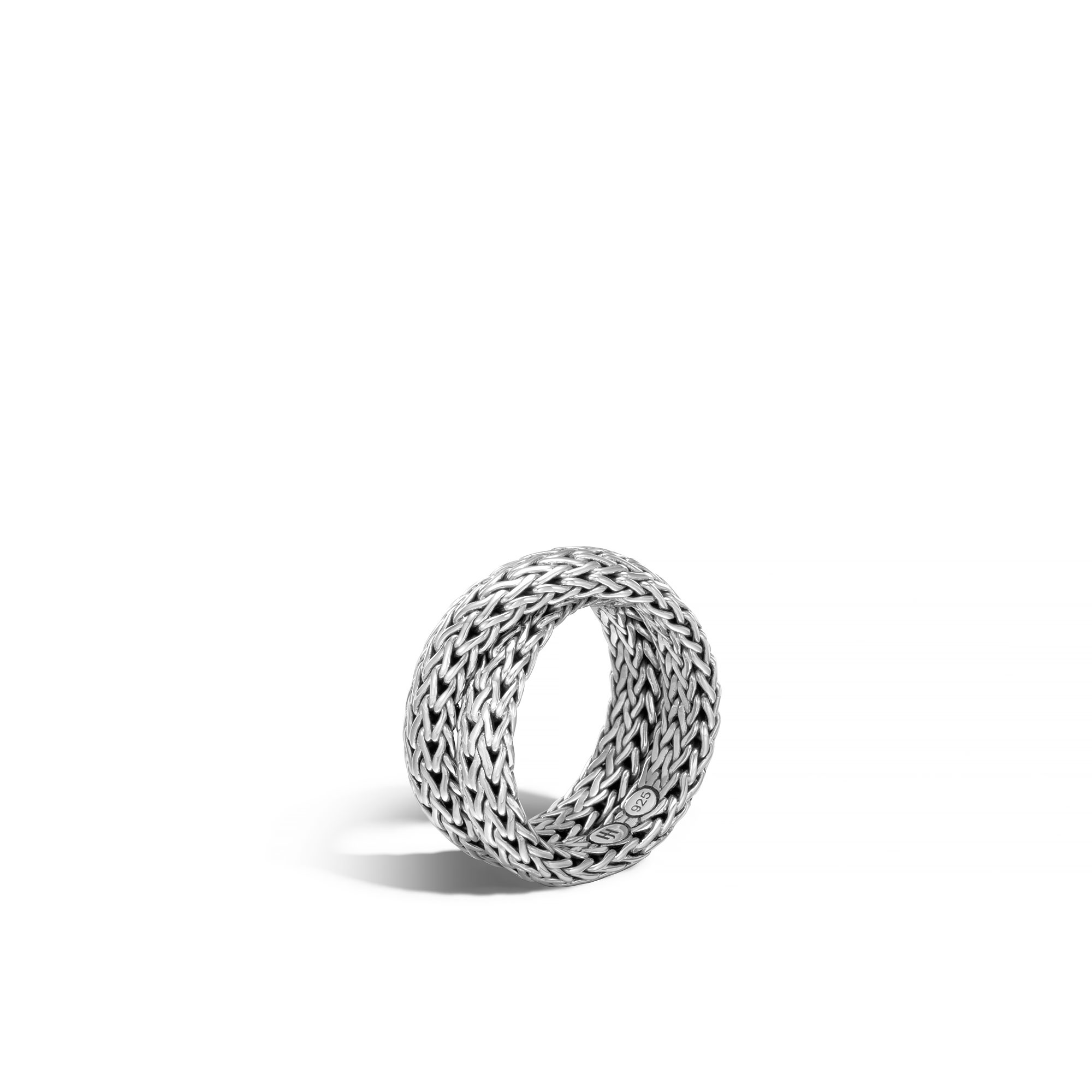 John Hardy: Sterling Silver  Classic Chain Intersect Chain Ring Size 7