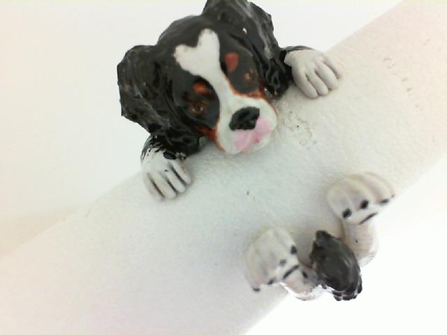 Dog Fever: Sterling Silver And Enamel Ring Size 7 Name: King Charles Spaniel Hug