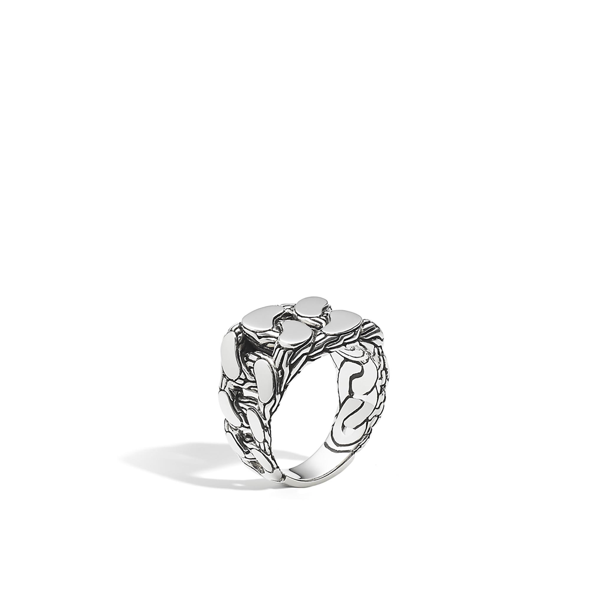 John Hardy: Sterling Silver :Classic Chain Gourmette Ring  Size 10