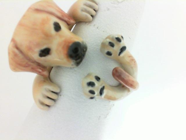 Dog Fever: Sterling Silver And Enamel Ring Size 5.5 Name: Labrador Retriever Hug