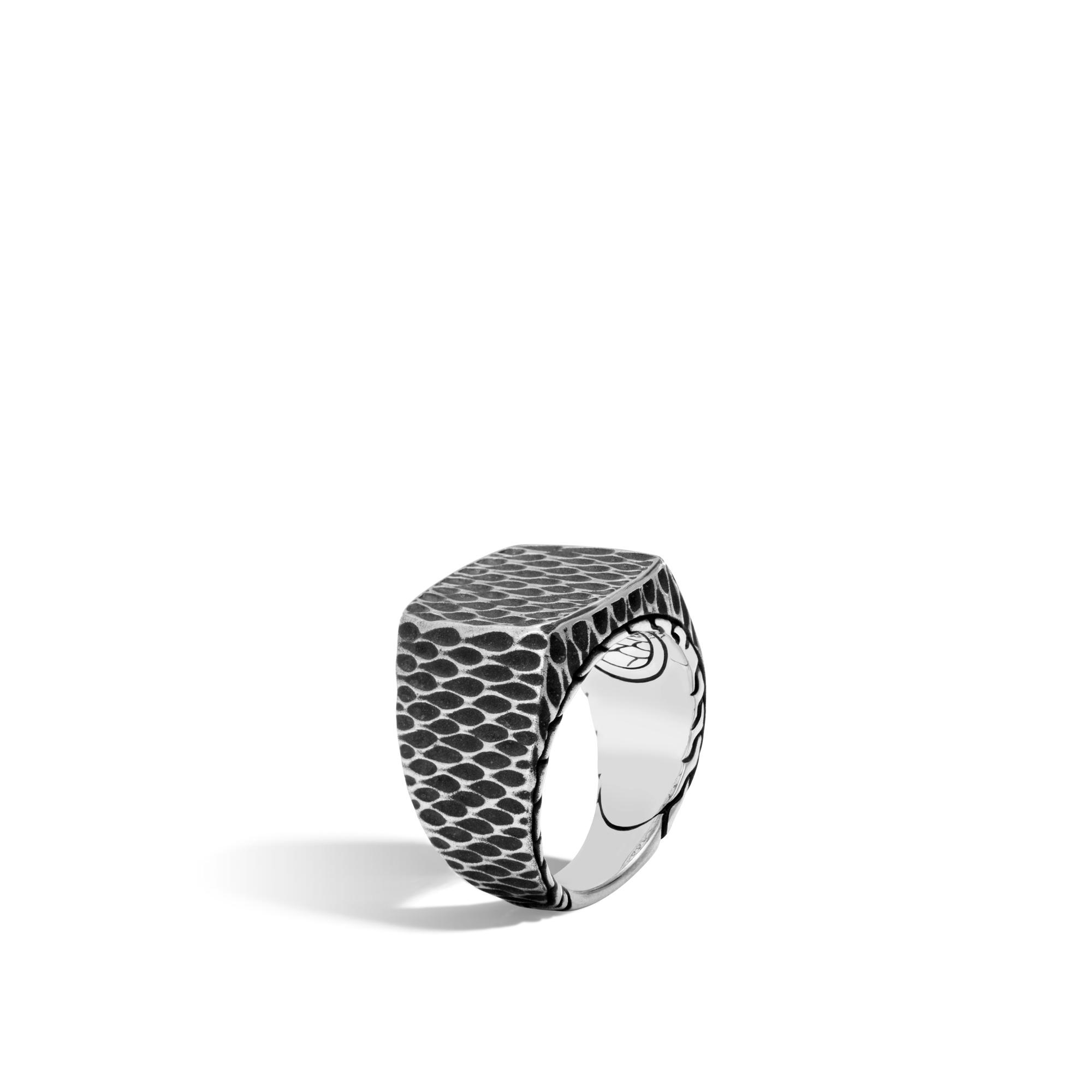 John Hardy: Sterling Silver Naga Signet Ring  Size 10