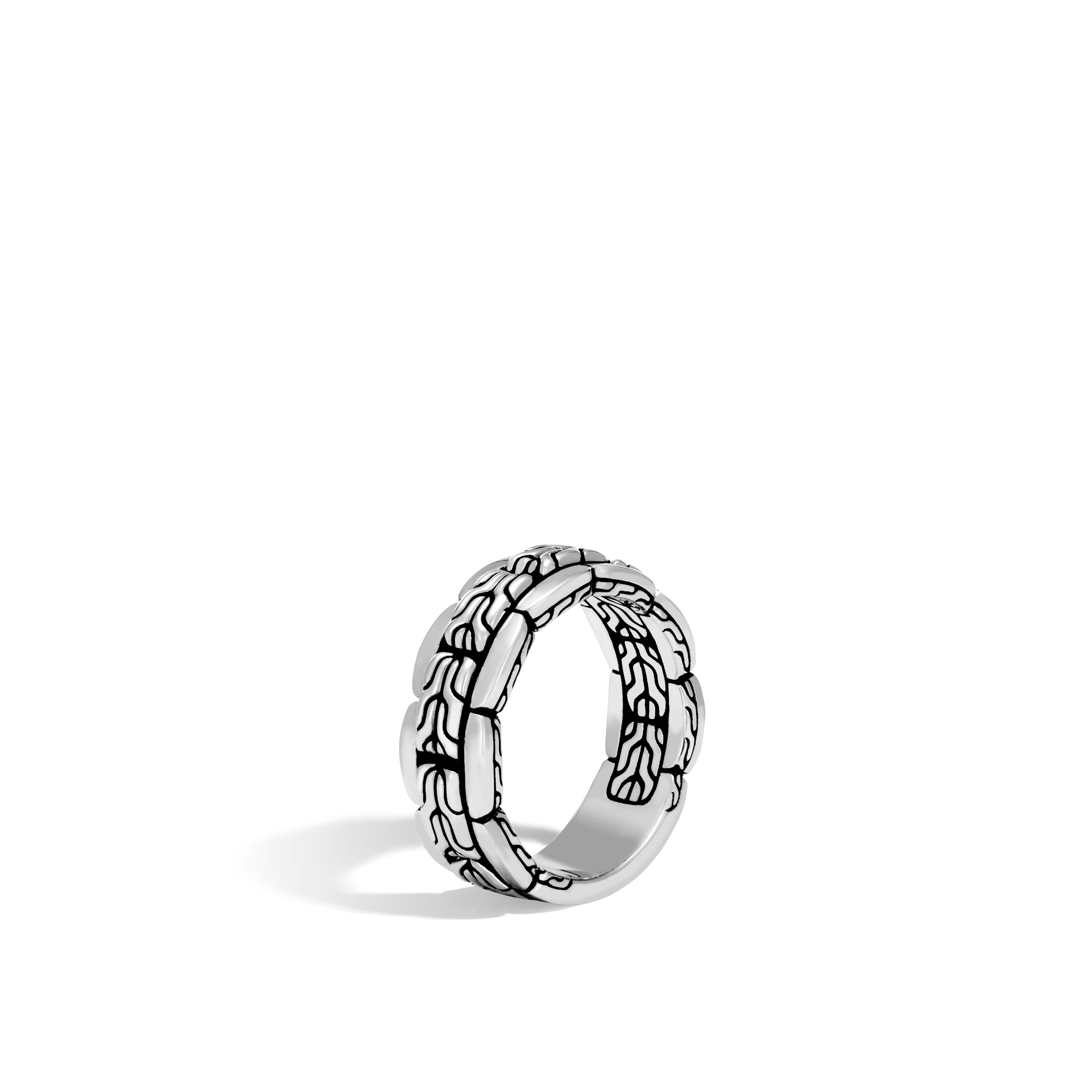 John Hardy: Sterling Silver Classic Chain 8mm Band Ring