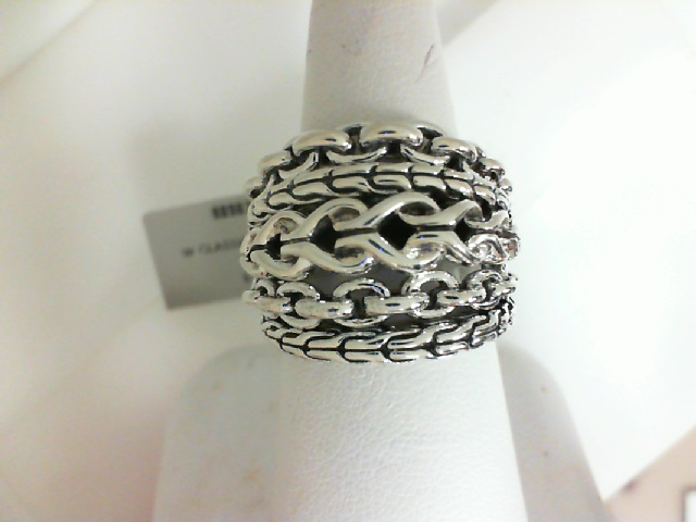 John Hardy: Sterling Silver Asli Classic Chain  Ring  Ring Size 7