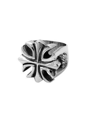King Baby: Sterling Silver Ring Gothic Cross Ring Size 10