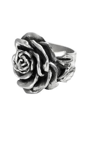 King Baby: Sterling Silver Rose Ring Size 7