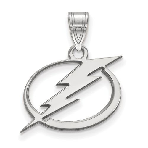 Sterling Silver NHL Lightning Charm 21x19mm