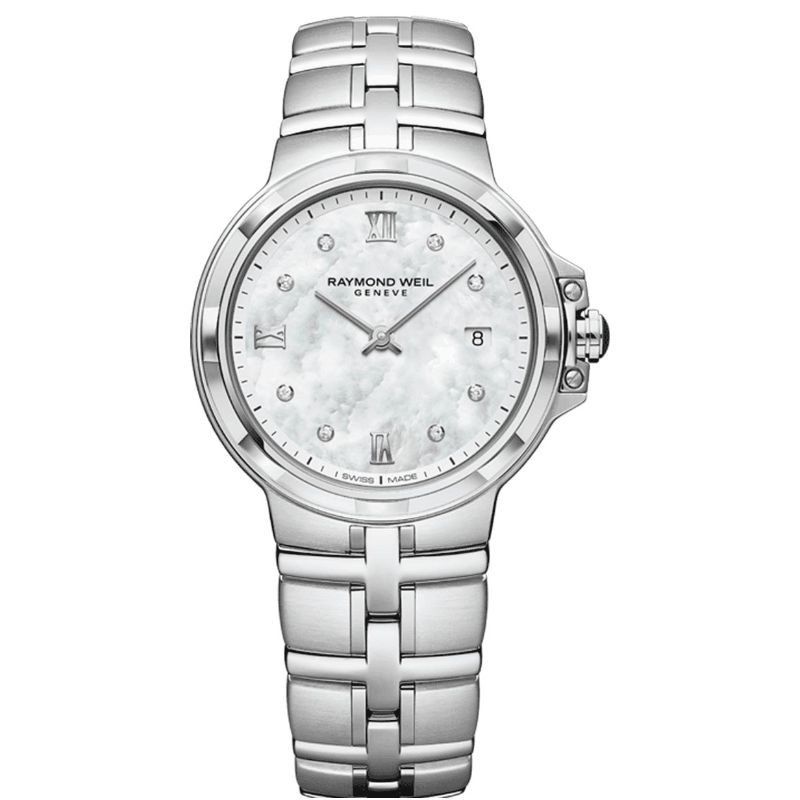 Stainless Steel Quartz Watch With 8=0.03Tw Round D/E Si1-2 Diamonds